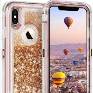 iPhone XR liquid Defender Rose Gold